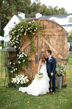 rustic wedding decor rustic door backdrop