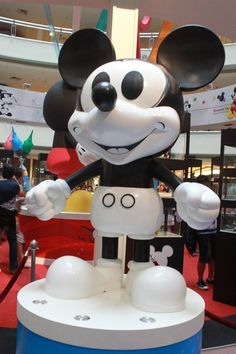 Classic Mickey Mouse from 1928 at the 'Mickey Mouse Through the yEars' exhibition at Mid Valley Megamall, KL