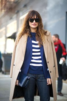Caroline de Maigret. See 49 more takes on the striped shirt, a style staple that like the white button-down and perfect-fit skinnies will never go out of style.