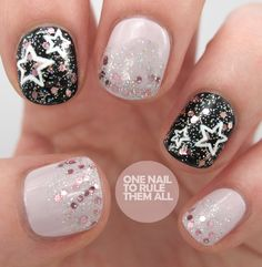 One Nail To Rule Them All: Glitter stars and Beauty Narcotix spray review