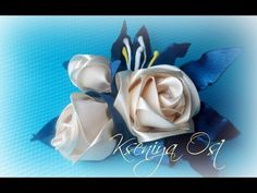 МК Интересный цветок канзаши. Цветы из лент. DIY Ribbon flowers - YouTube