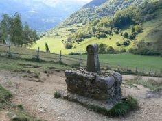 Memorial to 200 Cathars burnt at the stake at Chateau Montsegur, France
