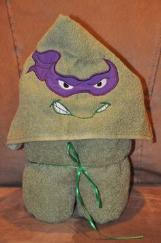 Teenage Mutant Ninja Turtle Donatello Hooded by Madeformonkeys, $25.00