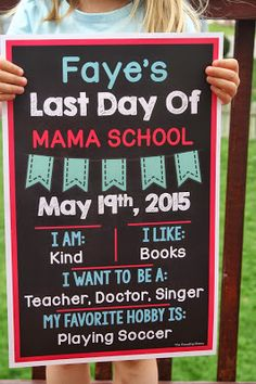 First and Last Day of School Posters ( Editable)
