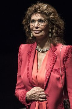 Italian actress Sophia Loren looks on after receiving a tribute during the 7th Lumiere Film Festival opening ceremony on October 13 2015 in Lyon AFP...
