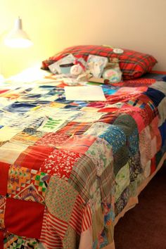 quilts on beds