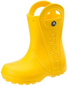 Crocs Infants//Toddlers Handle It Rain Boot,Bubblegum,US 7 M