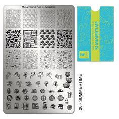 Moyra Nail Art Stamping Plate 26 - Summertime