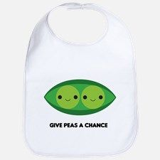 Give Peas a Chance Bib for