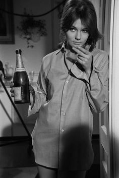 Jacqueline Bisset with champagne, 1966