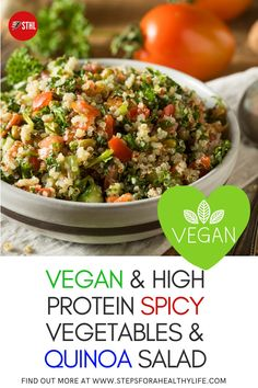 This high fibre vegetables & quinoa pot dish counts as 3 of your 5-a-day, with a creamy and spicy curried sauce.It's a quick, easy, and healthy quinoa and veggie dish with lots and lots of flavor! Great for light low fat & low carbs lunch or dinner meal Try this great & easy to prepare recipe & sort dinners out for the whole family. Family recipes dinners,healthy food,vegetarian food vegetarian recipes,healthy food recipes,dinners recipes,vegan recipes,low fat recipes,healthy lunch recipes