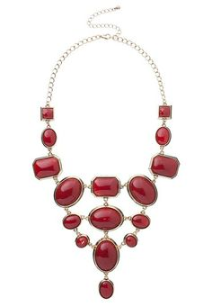 Geometric Statement Necklace available at #Maurices