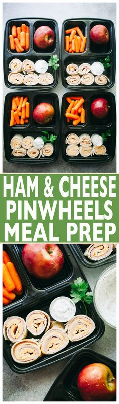 Ham and Cheese Pinwheels Meal Prep with Homemade Ranch Dip – Prep your BACK-TO-SCHOOL lunches with these delicious, easy-to-make ham and cheese pinwheels with a side of homemade ranch dip!