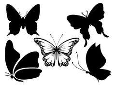 34 meilleures images du tableau gabarit papillon stencils butterflies et silhouette files - Silhouette papillon imprimer ...