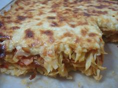 Greek Recipes, Vegan Recipes, Cookbook Recipes, Cooking Recipes, Pasta, Italian Cooking, Casserole Recipes, Lasagna, Food Inspiration