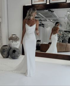 The Honey wedding dress oozes sophistication. A luxurious double-layered Crepe de Chine silk gown,. Shop online or book a bridal showroom appointment today! Wedding Dresses Sydney, Best Wedding Dresses, Unique Dresses, Bridal Dresses, Wedding Gowns, Boho Wedding, Civil Wedding Dresses, Fashion Wedding Dress, Wedding Reception Dresses