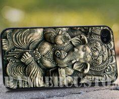 Ganesha and the gun   iPhone 4/4s/5/5s/5c by rangercustommumet, $15.00
