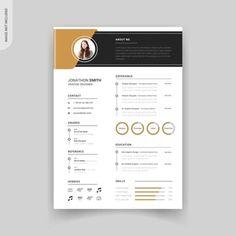 Rstech | Freepik Modern Resume Template, Creative Resume Templates, Online Cv Template, Job Application Template, Curriculum Vitae Template, Header Design, Letterhead Template, Banner Template, Banner Design