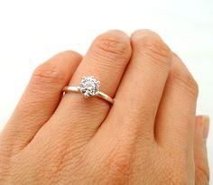 1.25 carat 7mm Diamond Anniversary Engagement 6 by TigerGemstones, $65.99