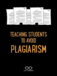 Teaching Students to Avoid Plagiarism - Although threats and detection software have some impact, the best way to prevent plagiarism is to teach students how to avoid it in the first place. Writing Strategies, Writing Resources, Teaching Strategies, Teaching Writing, Student Teaching, Writing Activities, Teaching Tips, Teaching English, Teacher Resources