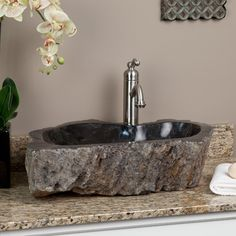 petrified wood sink from signature hardware