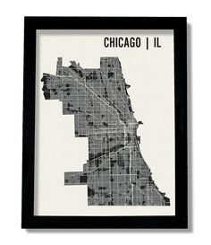 Chicago Street Detail Print  (http://www.mrcityprinting.com/products/chicago-map-art)