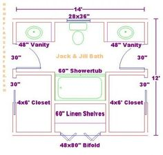 Jack and jill bathroom design. Could we do this with pocket doors between the vanity and the toilet/shower area?
