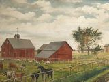 19th Century Farmscape Painting Oil On Canvas At 1stdibs