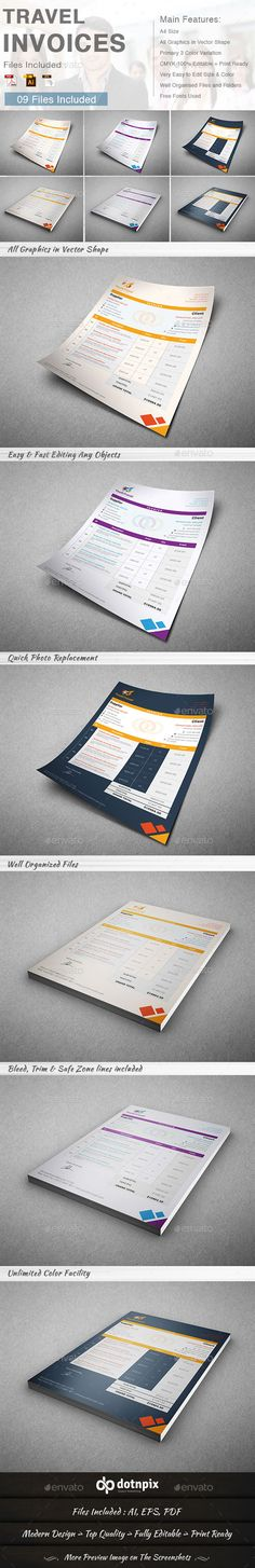 Travel Business Shopping Bag Print, Shopping and Template - travel invoice