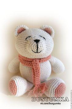 Купить Медвежонок - белый, игрушка для детей, мишка, медвежонок, медведь, мишка ручной работы