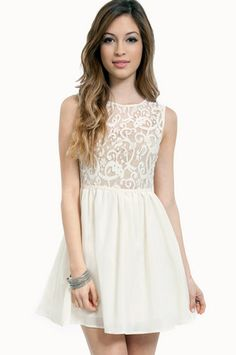 Lace Up Top Dress - no lining underneath the lace. Would be cute with a bright bra peeking through!