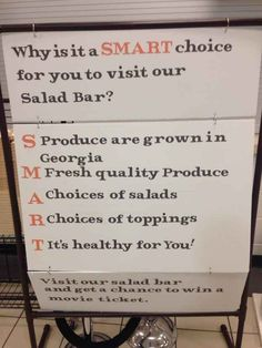 you had one job! The employee who was passionate about salads, but not so much about logic.