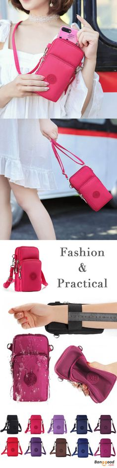 US$14.99 + Free shipping. Made of imported waterproof nylon fabric, smooth and soft, excellent and durable. It has three layers for you to carry smartphone, earphone, money, key and makeup, etc. Women Bag, Wallet Pocket, Shoulder Bag, Wrist Bag, Zipper Bag. Get the look!