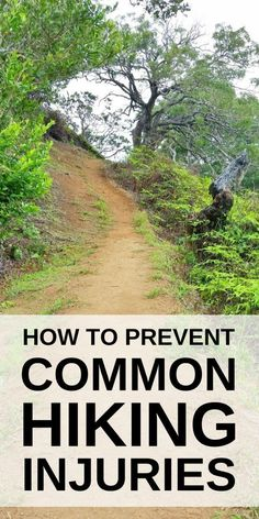 How to prevent common hiking injuries. Hiking tips for beginners ideas including knee pain with causes from walking hills. Training, preparation can help to prevent a hiking injury or walking injury, including with workout exercises for strength and condi Backpacking Tips, Hiking Tips, Hiking Gear, Hiking Boots, Hiking Backpack, Hiking Checklist, Backpack Bags, Thru Hiking, Camping And Hiking