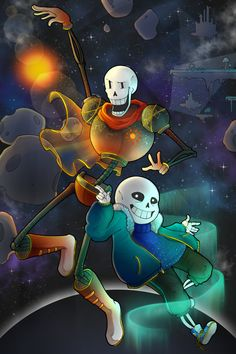 outertale | sans and papyrus