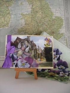 Pearl Maple: Pansy Fairy postcard and mail art