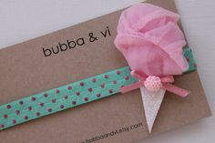 Glitter Hair Clip - Cotton Candy Hair Clip - Cotton Candy Headband, Bubba and Vi on Etsy, $14.00