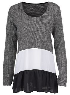 Best top, $21.99! Free shipping & Easy Return + Refund! For all of the chilly days ahead you can count on the Splicing Long Top to keep you warm and chic! It features casual style and splicing disign that will keep you extra cozy!