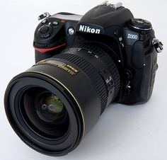 Nikon! (This is close to my baby; it's the D300, I have a D300s. LOVE IT!)