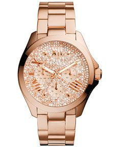 Fossil Women's Cecile Rose Gold-Tone Stainless Steel Bracelet Watch 40mm AM4604