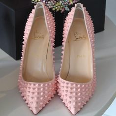 Pigalle Spikes 100 Patent-Leather Pumps by Christian Louboutin
