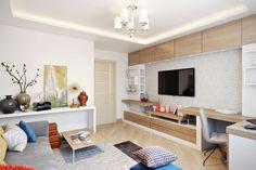 Amenajare moderna intr-un apartament de 2 camere pentru o familie cu un copil- Inspiratie in amenajarea casei - www.povesteacasei.ro