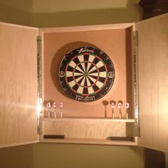 Solid Hardwood Dart Board Cabinets With Modern Lines Plywood Edge Cabinet Darts