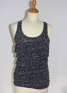 Kaufe meinen Artikel bei #Kleiderkreisel http://www.kleiderkreisel.de/damenmode/schulterfrei/152844062-tragertop-gr-s-bunt-blumen-blau