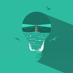 Congratulations You are the Graphic Design Central pick of the day! us then use or tag us in your and you could be chosen as our next feature! Flat Design, Shout Out, Lighthouse, Congratulations, This Is Us, Digital Art, Lightbulbs, Ocean, Graphic Design