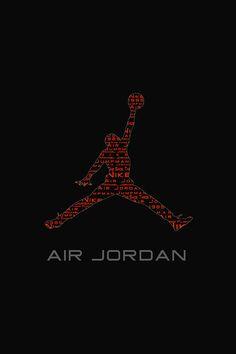 FREEIOS7 | air-jordan-logo - parallax HD iPhone iPad wallpaper
