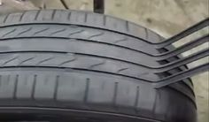 """How scammers make dangerously worn tires look """"new""""  - RoadandTrack.com"""