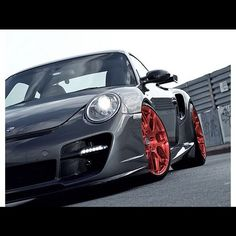 Stunning HRE equipped 997 Turbo with our in a custom brushed red finish. Porsche 911 Gt3, Porsche Wheels, Porsche Cars, Dream Car Garage, Lexus Cars, Import Cars, Car Manufacturers, Car Car, Fast Cars