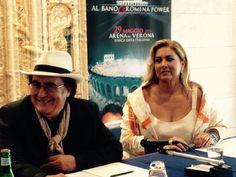 Albano e Romina Power conferenza stampa a Roma per il concerto-evento Arena di Verona
