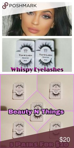 Top Lash Eyelashes  (5 pairs) PLEASE READ BEFORE PURCHASING   This listing is for:  ✔- 5 pair of Mink Wispy Eyelashes.   CAN ADD GLUE FOR $2 MORE  Eyelashes can be reused multiple (20+) times if taken care of properly.  These eyelashes are beautiful   Great for any event  GLUE NOT INCLUDED   ➡COMMENT IF YOU WOULD LIKE MORE THEN 1 PAIR BEFORE PURCHASING ⬅  I GIVE DISCOUNTS ON BUNDLES  ✔SHIP WITHIN 24 HOURS  ✔GREAT QUALITY  ✔VERY SOFT ✔PRICE IS FIRM  PLEASE NOTE THAT I DO NOT HAVE CONTROL OVER…